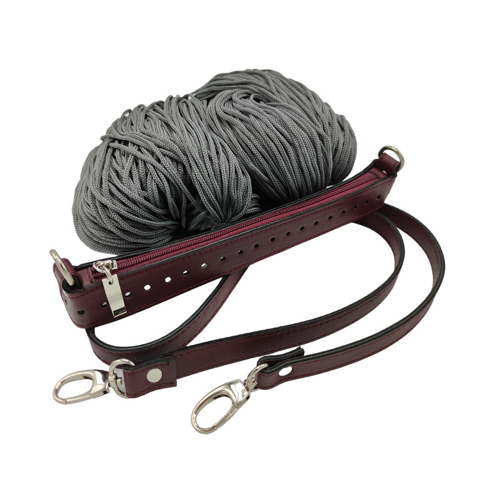Set Zippy bordeaux / grau