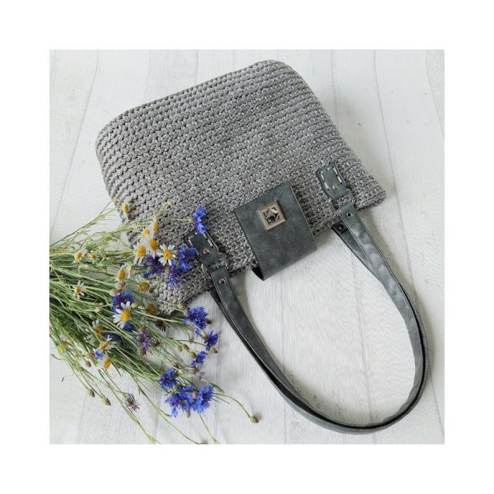 Set Fancy grau / dunkelblau